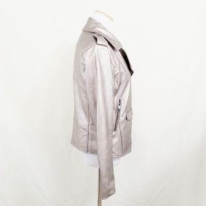 bagatelle Jackets & Coats - Bagatelle metallic moto jacket silver gold leather